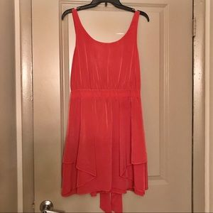 Coral BCBGeneration scoop neck dress